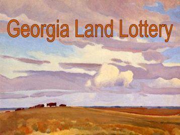 Georgia Land Lottery