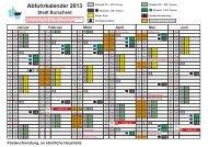 Abfuhrkalender Burscheid 2013 - Bergischer Abfallwirtschaftsverband