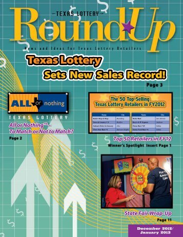 template for ROUNDUP - Texas Lottery