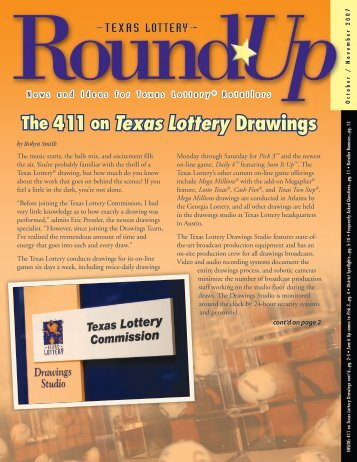The 411 on Texas Lottery Drawings - Txlottery
