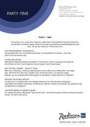 PARTY-TIME - Radisson Blu