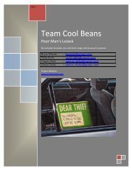 Team Cool Beans - Electrical and Computer Engineering
