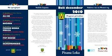 Beli december 2010 - Muzejsko društvo Škofja Loka