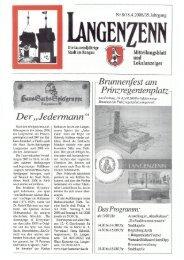 Stadt im Bangau Mitteilungsblatt und Lokalanzeiger - Langenzenn