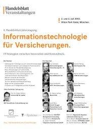 Informationstechnologie für Versicherungen. - Verlagsgruppe ...