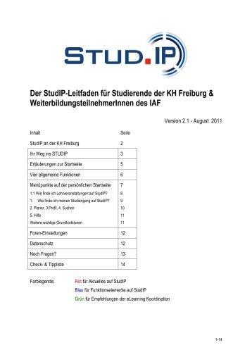 Der StudIP-Leitfaden für Studierende der KH Freiburg - Katholische ...