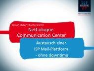 Die Mailplattform von Netcologne. Vortragsfolien der 5 ... - Heinlein