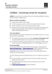 Changing your computer passwords - staffcentral - University of ...