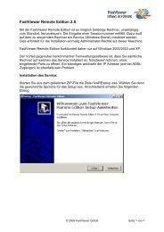 Handbuch Fastviewer Remote Edition - yourIT