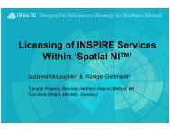 Licensing of INSPIRE Services Within 'Spatial NI™'