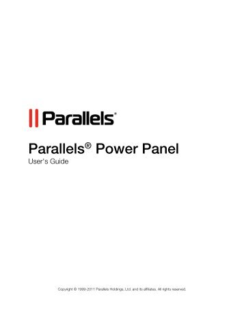 Parallels® Power Panel - Download - Parallels
