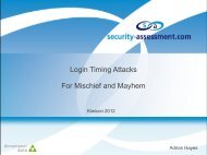 Login Timing Attacks For Mischief and Mayhem - Security Assessment