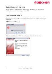 Content Manager 2 - Mobilenavigation.mybecker.com