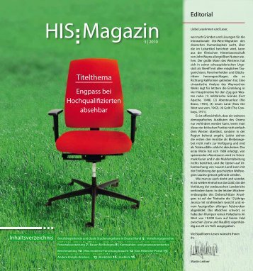 HIS-Magazin 3/2010 - Hochschul-Informations-System GmbH