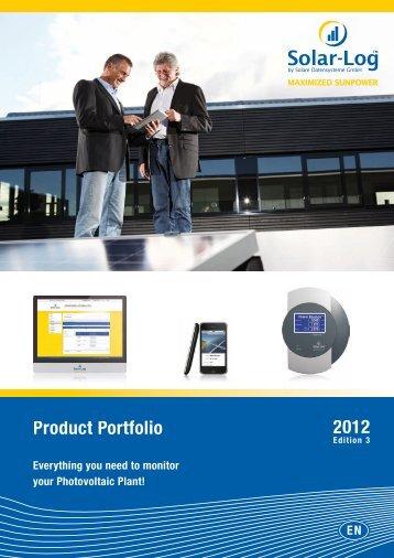 Download Solar-Log™ Product Portfolio - RENVU