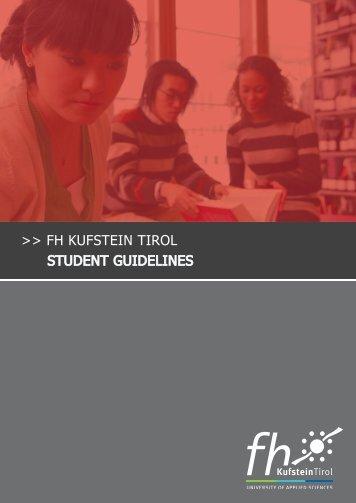 FH KUFSTEIN TIROL STUDENT GUIDELINES