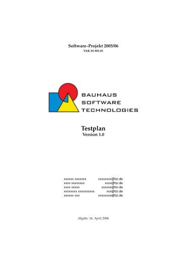 Testplan - Informatik - Universität Bremen