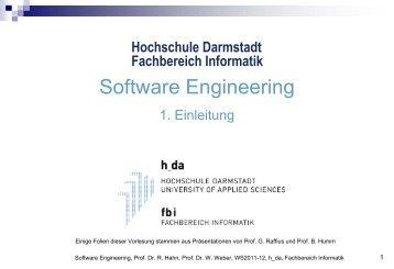 Software Engineering - beim Fachbereich Informatik - Hochschule ...