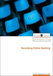 Welcome to Berenberg Online Banking - Berenberg Bank