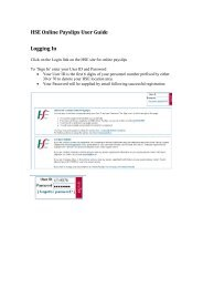 HSE Online Payslips User Guide Logging In