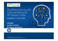 Qualitätssicherung und Software-Testing mit HP Quality Center