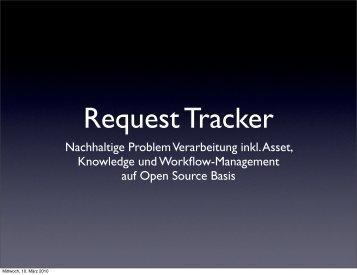 Request Tracker - GUUG