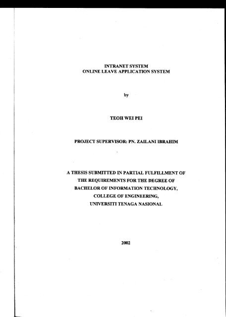 online reservation system thesis pdf