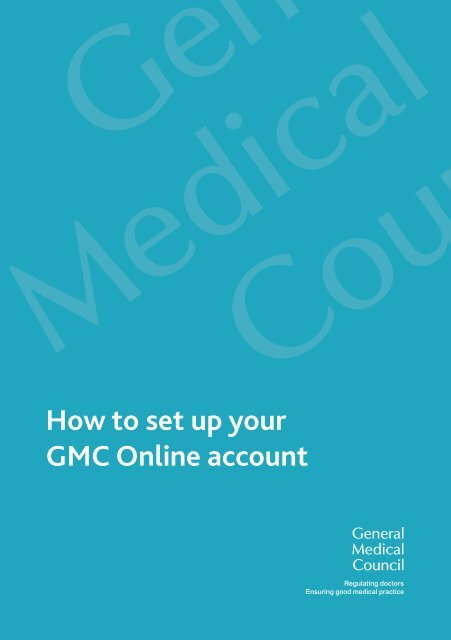 How to set up your GMC Online account - General Medical Council