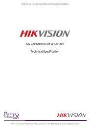 DS-7204/08HVI-SH Series DVR Technical Specification - Ezcctv
