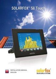 INSTALLATION MANUAL ENGLISH - Solarfox