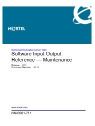 Software Input Output Reference — Maintenance - BT Business