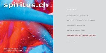 Kollegium Spiritus Sanctus Brig Jahresbericht 2010/2011