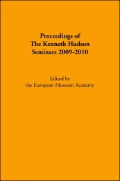 2009-2010 KH Seminars Proceedings - European Museum Academy