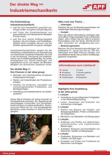 Industriemechaniker - stiwa apf