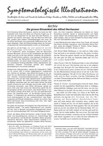 Die grosse Einsamkeit des Alfred Herrhausen - Lochmann-Verlag