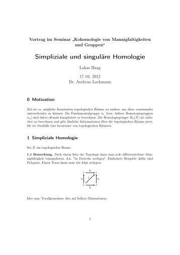 Simpliziale und singuläre Homologie