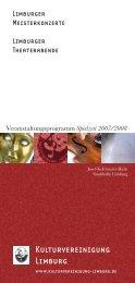 Programmheft 07-08.indd - Kulturvereinigung Limburg e.V.