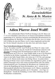 Adieu Pfarrer Josef Wolff! - St. Lukas