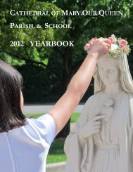 Annual Report - Cathedral of Mary Our Queen