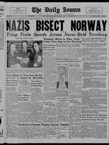 April 17 - The Daily Iowan Historic Newspapers - University of Iowa
