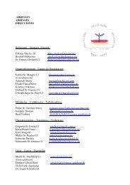ADRESSEN ADRESSES DIRECCIONES Referenten – Speakers ...