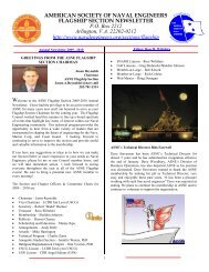 american society of naval engineers flagship section - ASNE