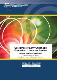 Outcomes of Early Childhood Education: Literature Review
