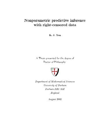 Nonparametric predictive inference with right-censored data K. J. ...