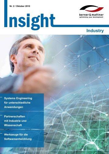 2. Newsletter 'Insight Industry' (pdf 1,6 MB - Berner & Mattner