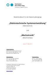 Elektrotechnische Systementwicklung - Fachbereich Elektrotechnik ...