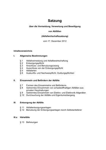 Satzung - Alb-Donau-Kreis
