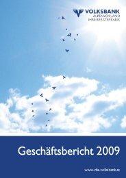 Geschäftsbericht 2009 - Volksbank Alpenvorland