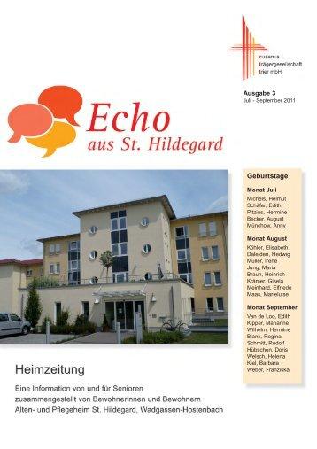 Geburtstage - Alten- und Pflegeheim St. Hildegard Hostenbach