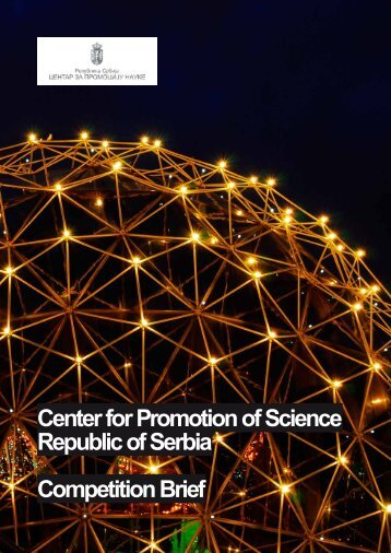 Center for Promotion of Science Republic of Serbia - minds ...